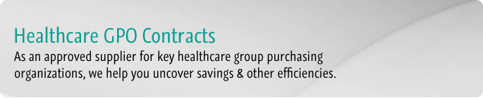 As an approved supplier for key healthcare group purchasing organizations, we help you uncover savings & other efficiencies.